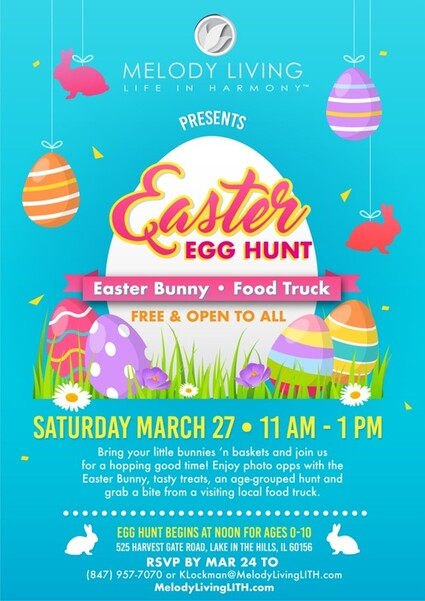 Hop on over to Melody Living's Easter Egg Hunt